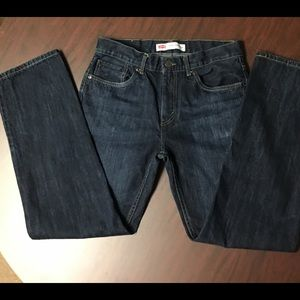 Levi's 505 Size 29 x 29 straight leg 18R Dark wash